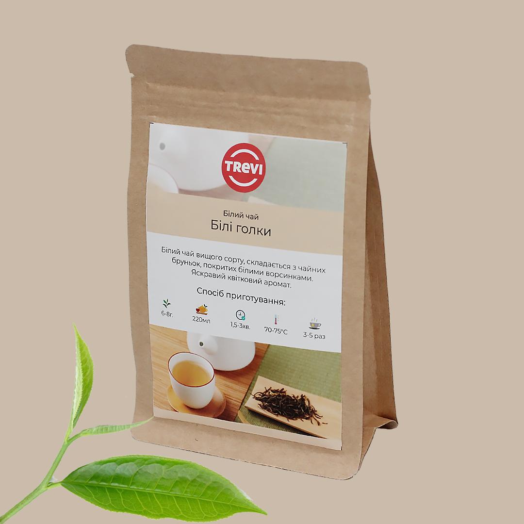 Цена Чай белый рассыпной Trevi  Белые иглы 100 г
