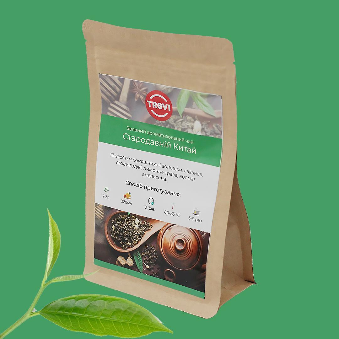 Чай Зеленый рассыпной Trevi Древний Китай 50 г