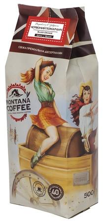 Купить со скидкой Кофе в зёрнах Montana Coffee Красный Апельсин 0,5 кг