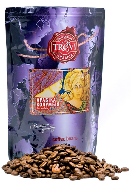 Кофе в зёрнах Trevi Арабика Колумбия без кофеина 250 г