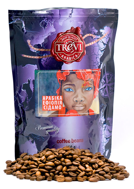 Кофе в зёрнах Trevi Арабика Ефиопия Сидамо 250 г