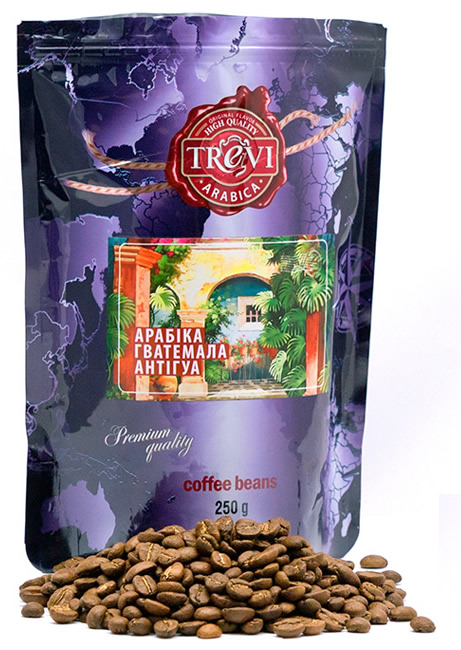 Кофе в зёрнах Trevi Арабика Гватемала Антигуа 250 г