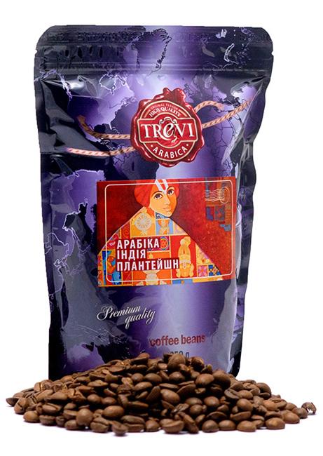 Кофе в зёрнах Trevi Арабика Индия Плантейшн 250 г