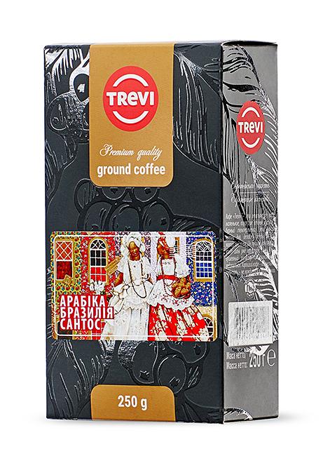 Купить со скидкой Кофе молотый Trevi Арабика Бразилия Сантос 250г