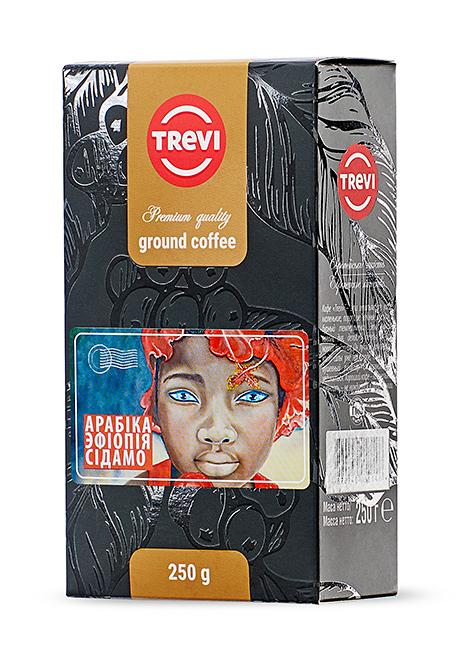 Купить со скидкой Кофе молотый Trevi Арабика Эфиопия Сидамо 250г