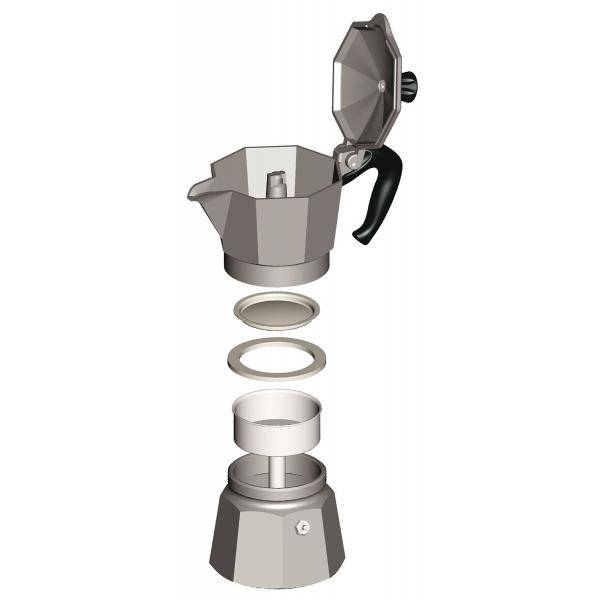 Кофеварка гейзерная Moka express  на 3 чашки