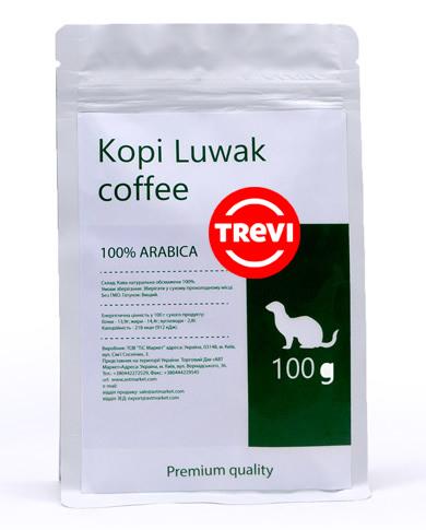 Купить со скидкой Кофе в зёрнах Trevi Арабика Kopi Luwak 100 г