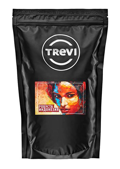 Купить со скидкой Кофе в зернах Trevi Робуста Индонезия 500 г
