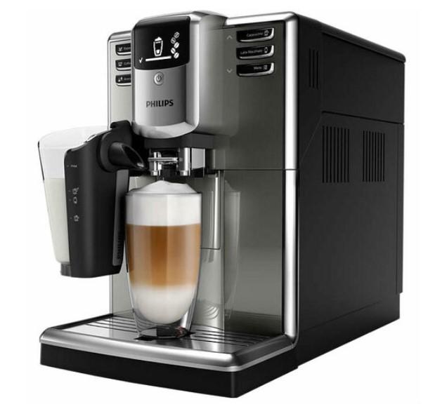 Купить Автоматические кофемашины, Кофемашина Philips EP5334 / 10 LatteGo, Чорний з сріблястим