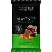 Шоколад молочный Миндаль Cachet 32% какао 300 г