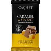 Шоколад молочный Cachet карамель и морская соль 32% 300 г