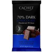 Шоколад черный Cachet 70% какао 300 г