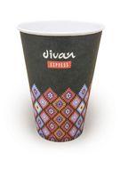 Бумажный стаканчик для горячих напитков Divan Express 200 мл (100шт)