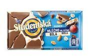 Шоколад Studentska Duomix Mlecna Bila 180 г