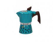 Кофеварка гейзерная GAT COFFEE SHOW 6 чашек Бирюзовая