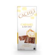 Шоколад молочный Cachet с карамелью и солью 100 г