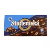 Шоколад Studentska молочный с изюмом 180 г