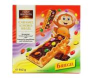 Печенье Feiny Biscuits Caramel Schoko-riegel 162 г