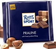 Шоколад молочный  Ritter Sport Praline 100 г