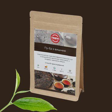 Цена Чай черный Trevi Пуэр  с вишней 100 г