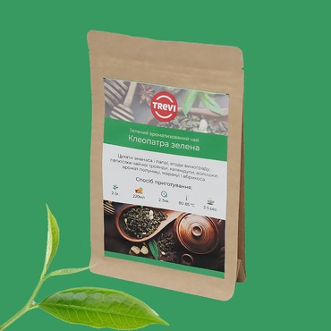 Цена Чай Зеленый  рассыпной Trevi Клеопатра зеленая 100 г