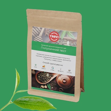 Цена Чай Зеленый рассыпной Trevi Клубничный твист 1 кг