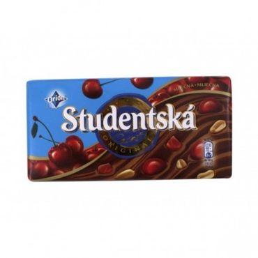 Шоколад Studentska молочный с вишней 180 г