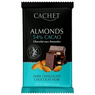 Шоколад черный Миндаль Cachet какао 54% 300 г