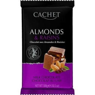 Шоколад молочный Cachet Миндаль и Изюм 300 г