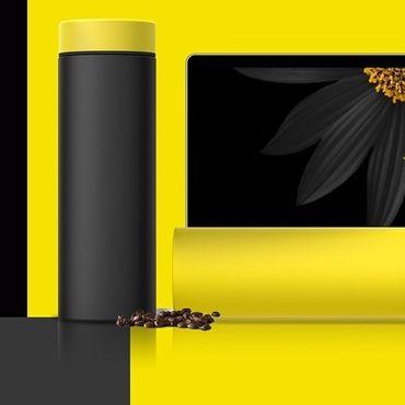 Цена Термос Asobu Le Baton Чёрный 500 мл (LB17 BLACK/YELLOW)