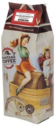 Кофе в зёрнах Montana Coffee Ванильный Миндаль 500 г