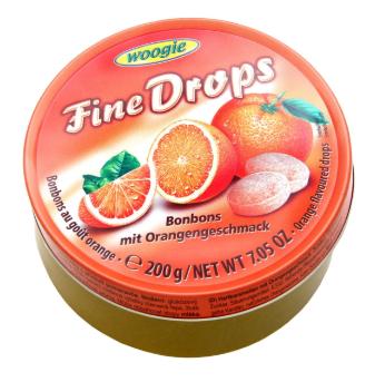 Леденцы Woogie Fine Drops со вкусом апельсина 200 г