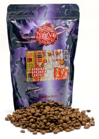 Цена Кофе в зёрнах Trevi Арабика Бразилия Сантос 250 г