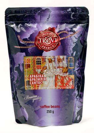 Кофе в зёрнах Trevi Арабика Бразилия Сантос 250 г