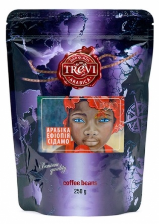 Кофе в зёрнах Trevi Арабика Эфиопия Сидамо 250 г