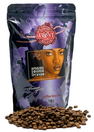 Цена Кофе в зёрнах Trevi Арабика Эфиопия Иргачиф 250 г