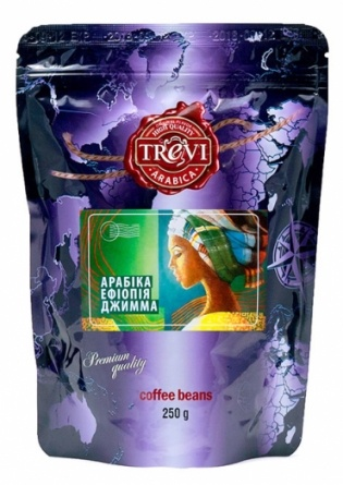 Кофе в зёрнах Trevi Арабика Ефиопия Джимма 250 г