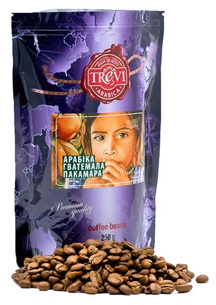 Цена Кофе в зёрнах Trevi Арабика Гватемала Пакамара 250 г
