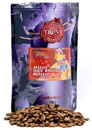 Цена Кофе в зёрнах Trevi Арабика Индия Монсунд Малабар 250 г