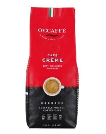 Кофе в зернах O'CCAFFE Café Crème  250 г