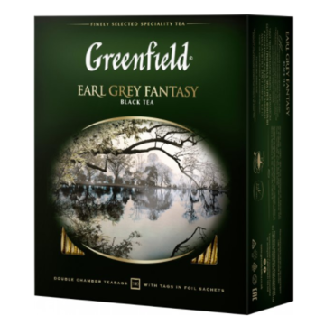 Чай черный пакетированный Greenfield Earl Grey Fantasy (100 х 2 г)