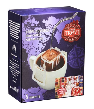 Дрип-кофе Trevi Арабика Бразилия Сантос 5x8 г