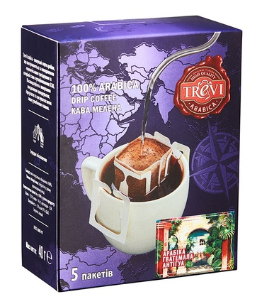 Дрип-кофе Trevi Арабика Гватемала Антигуа 5x8 г