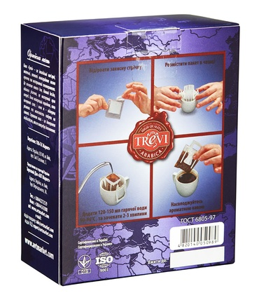 Цена Дрип кофе Trevi Арабика Гватемала Антигуа 5x8 г