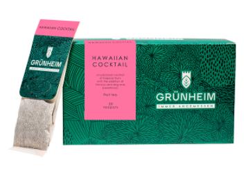 Чай фруктовый пакетированный Grunheim Hawaiian Cocktail 20 шт