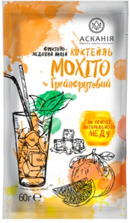 """Напиток-сашет Аскания """"Коктель МОХИТО грейпфрутовый"""" 60 г"""