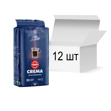 Ящик молотого кофе Trevi Crema 250 г х 12 шт