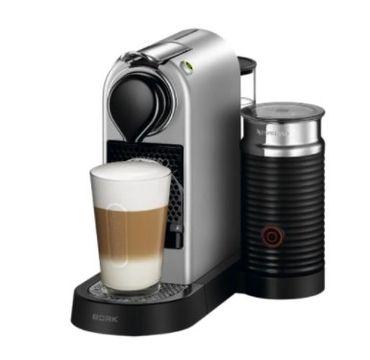 Капсульная кофеварка Nespresso CitiZ and Milk Silver
