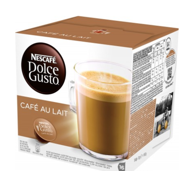 Кофе в капсулах NESCAFE Dolce Gusto Cafe Au Lait (16 шт)