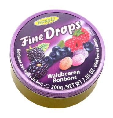 Леденцы Woogie Fine Drops со вкусом лесной ягоды 200 г